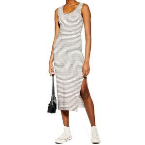Topshop Stripe Midi Dress | size 4